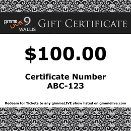GIMMELIVE GIFT CERTIFICATES